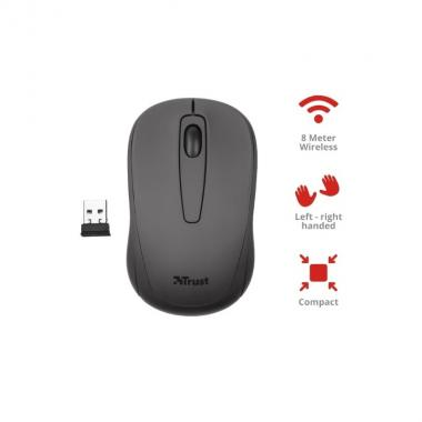Trust mouse ottico wireless nero, tru21509