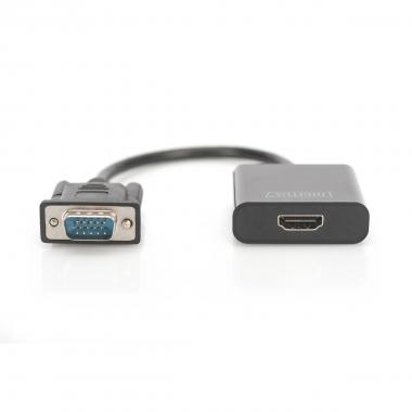Adattatore pc vga - monitor hdmi con audio digitus