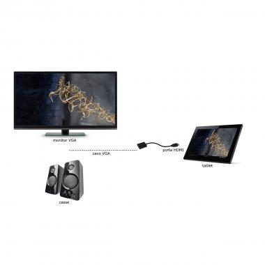 "ADATTATORE MINI HDMI ""C"" - VGA FEMMINA + AUDIO"